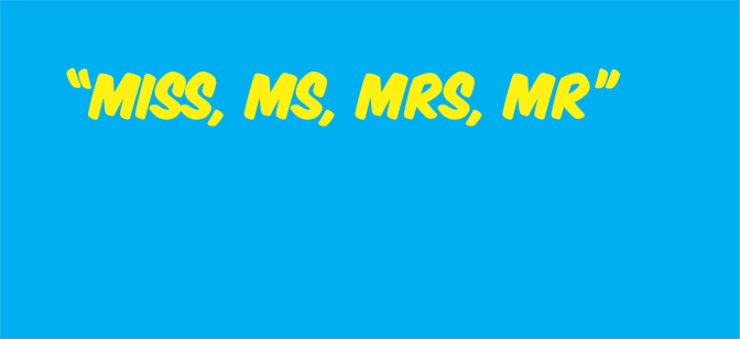 #EngTips: Miss, Ms, Mrs, Mr