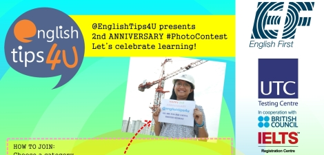 @EnglishTips4U #PhotoContest Poster featured