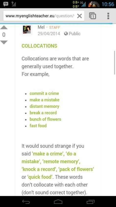 collocation vs phrasal verb 1