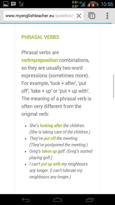 collocation vs phrasal verb 2