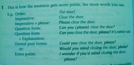 polite vs. not polite