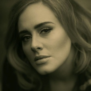 Adele in a music video for her newest hit,