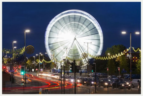 A 100-foot Ferris wheel in Leicester. A new major addition for this year's Diwali Festival.