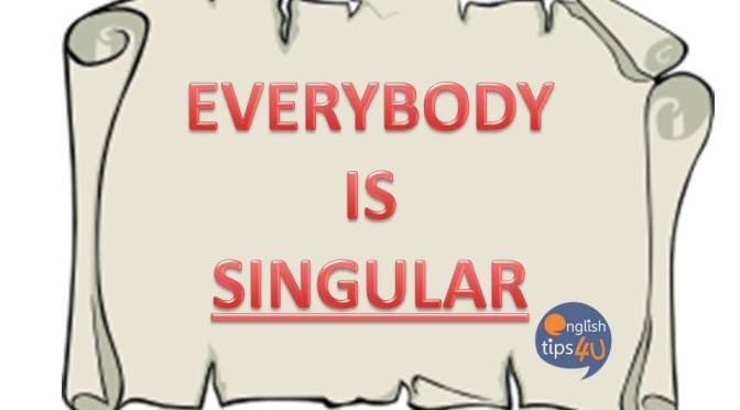 #EngClass: Everybody – Singular or Plural?