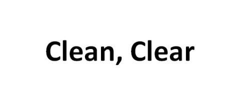 Clean, Clear.JPG