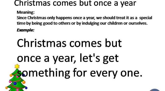 #IOTW: Christmas idioms